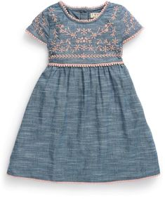 Next Chambray Pink Embroidered Dress (3mths-6yrs) on shopstyle.com.au