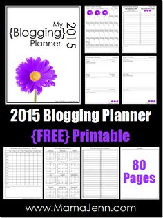 2015 Blogging Planner {FREE Printable}