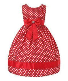 Love this Red Polka Dot Bow Dress - Toddler & Girls by Richie House on Toddler Girl Dresses, Little Girl Dresses, Girls Dresses, Toddler Girls, Kids Frocks, Dress With Bow, Fashion Kids, Kind Mode, Kids Wear