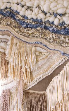 Woven Wall Hanging Tapestry By The Seashore by CrossingThreadsAUS