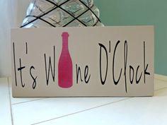 It's Wine O'Clock Wine Lovers Wood Wall Art by SpunkyPunch