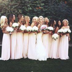Pink Bridesmaid Dresses Pale Laurel Groomsmen Wedding Things Stuff Dream Bells Blushes