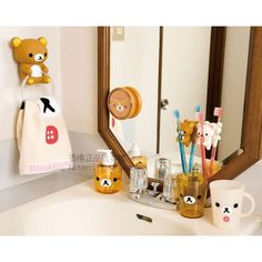 Japan San x Rilakkuma Relax Bear Towel Ring Hanger Hook | eBay