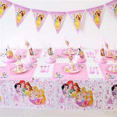 72pcs Disney Princess Birthday Party Decoration Set