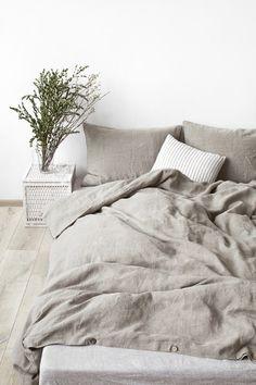Stone-washed linen bedding #linenbedding