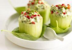 Stuffed Cucumber Snack