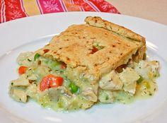 Turkey pot pie with gluten free pie crust - am always looking for more gluten free pie crust recipes!