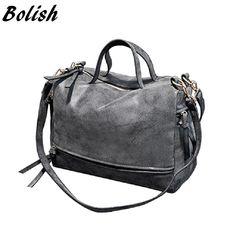 b2e0142e3b7c nooutside  Bolish New Arrive Women Shoulder Bag Nubuck Leather women handbag  Vint