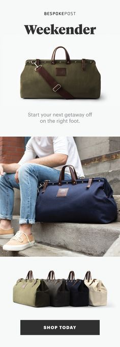 Unique boxes assembled for you each month - Featuring: Weekender. With this bag, you�re fully prepped to set out for wherever the road takes you while keeping your sense of style firmly intact. Ready to explore? Join for free.