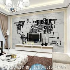 Good Morning  Where are my followers from? # Visit @_archidesignhome_ for more beautiful homes  #interiordesign #living #map #design #designer #russia #tehran #india #spain #argentina #usa #canada #china #australia #japan #brasil #italy #germany #iran #malaysia #indonesia #france #belgium #sweden #turkey #mexico #africa #architecture #home - Architecture and Home Decor - Bedroom - Bathroom - Kitchen And Living Room Interior Design Decorating Ideas - #architecture #design #interiordesign…