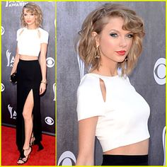 Taylor Swift at the ACMs! She looks amazing, very glad to see her step out of her comfort zone in fashion!