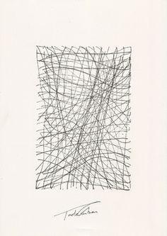 "Saatchi Art Artist Tade Garben .; Drawing, ""The quantic line"" #art"