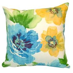 Add a pop of spring comfort to your living room, patio, or porch with this plush indoor/outdoor pillow   Product: PillowCo...