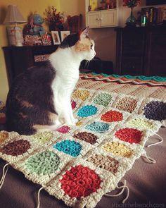 Bibbidi Bobbledee Baby Blanket!  Crochet Bobble Stitch Granny Square.