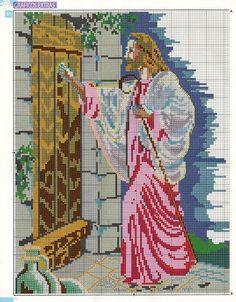 ♥Meus Gráficos De Ponto Cruz♥: Sagrado Coração de Jesus e Nossa Senhora em Ponto Cruz