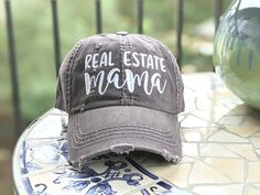 Real Estate is My Hustle Fashion Adjustable Cotton Baseball Caps Trucker Driver Hat Outdoor Cap Black