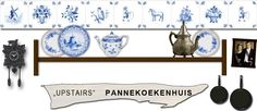 Upstairs Pannenkoeken Pancakes - House dated to 1539.  Smallest restaurant in Europe - only 4 tables!