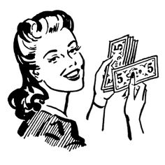 Free Money Clip Art of Retro clip art money moms women the graphics fairy image for your personal projects, presentations or web designs. Retro Images, Vintage Images, Vintage Art, Vintage Woman, Vintage Clip, Vintage Labels, Retro Art, Vintage Pins, Free Redbox