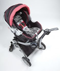 The Graco 3-in-1 Modular Stroller with the Graco Snugride 35 Carseat. Stroller offers 3 seating options, and has premium suspension and maneuverability.