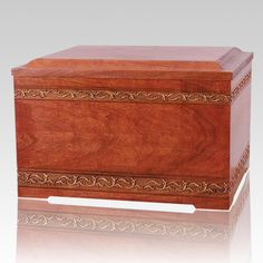 The Memory Wood Pet Casket is is a classic design from the collection of one of the most talented woodworkers in the United States. A wonderful classic pet wood casket.