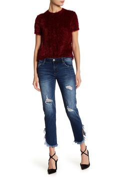 STS BLUE - Frayed Tulip Hem Jeans is now 42% off. Free Shipping on orders over $100.