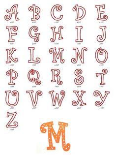 Curlz Applique Font Sizes: 4in, 5in, 6in  Upper Case