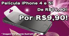 Película de iPhone 4/4s e 5/5s apenas R$9,90! Aproveite esta imperdível Promoção!! <3 #iPhone #pelicula #ofertas #promocao