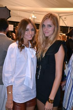 olivia palermo. i like the white top w/ a bow +  leather shorts.