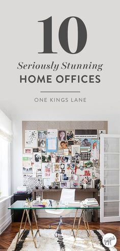 Ready to re-do your home office? Get inspired by these 10 gorgeous spaces first!