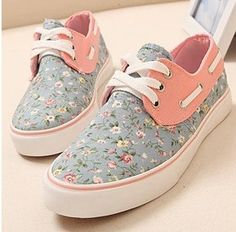 c0c3e7d0afed Floral Canvas Fashion Flat Shoes Nike Free