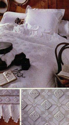 Crochet Bedspread 'Bedtime Story' - See free pattern
