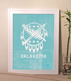 Pick Your Color Oklahoma Poster  Osage shield by clintprint, $40.00