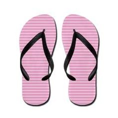 """Rose Stripes Flip Flops Refined and fresh stripes to match your favorite outfit. Color palette chosen from """"most popular wedding colors"""" on the knot."""