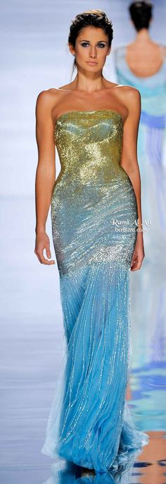 From black tie or outdoor summer weddings this gown is so pretty and makes a fun and memorable statement :) Rami Al Ali Spring 2011 Couture Beautiful Gowns, Beautiful Outfits, Beautiful Mermaid, Couture Fashion, Runway Fashion, Rami Al Ali, Dress Vestidos, Glamour, Pretty Dresses