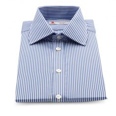 Turnbull and Asser Bengal Stripe Shirt with Classic T&A Collar French Cuff Shirts, Shirt Cuff, Dapper, Shirt Dress, Bengal, Classic, Mens Tops, London, Business
