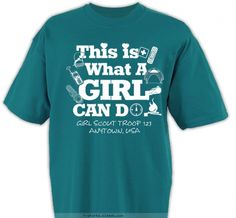 girl scout shirts ideas | SP4901 Screenprinted Girl Scout Troop Designs