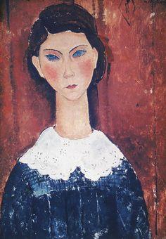 'head of a girl' by amedeo modigliani