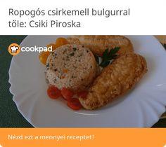 Ropogós csirkemell bulgurral Sausage, Meat, Invite, Food, Bulgur, Sausages, Essen, Meals, Yemek