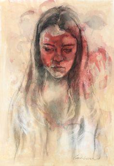 Portrait - mixed media - 50x70cm on paper - 2018 - Gerda Viszer