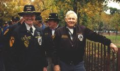 Pictured are LTG Hal Moore and CSM Basil Plumley, Honorary Commander and Command  Sergeant Major of the 7th Cavalry Regiment, respectively. At their rear is Joseph L. Galloway,  the author of They Were Soldiers Once...and Young. They are all heroes of the battle for  LZ X-ray (Ia Drang Valley, Vietnam, 1966) and men that I have met, respect, and admire
