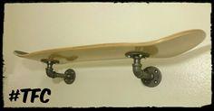 single deck skateboard shelf by TFCPipeDreams on Etsy