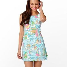 Lilly Pulitzer Delia Dress in You Gotta Regatta EUC Lilly Pulitzer Delia Dress in You Gotta Regatta (YGR). Absolutely no flaws and colors are still vibrant! No trades. $300 shipped through ️️ or Ⓜ️. Lilly Pulitzer Dresses Mini
