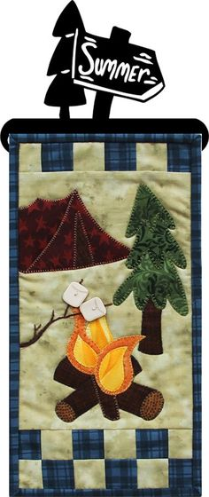 MM808 Campfire Goodies-A Patch Abilities Inc Pattern- A cutie little wall hanging that's easy for beginners. Enjoy this little applique project!