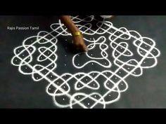 Small Rangoli Design, Rangoli Patterns, Rangoli Ideas, Rangoli Designs With Dots, Rangoli Designs Images, Kolam Rangoli, Beautiful Rangoli Designs, Pooja Room Design, Muggulu Design