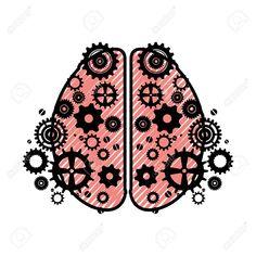 Human brain symbol icon vector illustration graphic design , #AFF, #symbol, #icon, #Human, #brain, #graphic Brain Graphic, B Rain, Pizza, Symbols, Graphic Design, Illustration, Accessories, Art, Art Background
