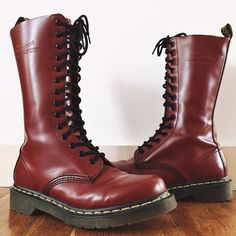 Dr. Martens 1914 Lace Up Boot - Cherry Red The Dr. Martens Original 1914 is a 14 eyelet lace up boot with a durable smooth leather finish. This cherry red version is hard to find, and is the only pair currently listed on Poshmark. In great shape and tread looks brand new, these have only been warn twice! Goodyear-welted product, the sole and upper are heat-sealed  and sewn together. Dr. Martens air-cushioned sole, oil and fat resistant, offers good abrasion and slip resistance. Dr. Martens…