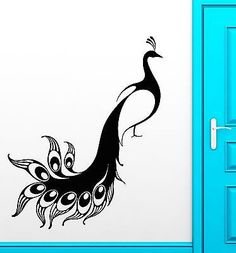 Newest Snap Shots black Peacock Bird Popular The flamingo is just a beautiful pi. : Newest Snap Shots black Peacock Bird Popular The flamingo is just a beautiful pink wading bird. You will find actually 6 different species of fla Simple Wall Paintings, Creative Wall Painting, Wall Painting Decor, Diy Wall Art, Wall Art Decor, Room Decor, Peacock Wall Art, Peacock Painting, Peacock Room