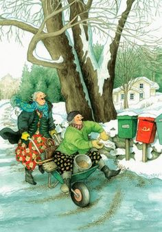 Ideas Funny Illustration Inge Look For 2019 Old Lady Humor, Art Fantaisiste, Look Older, Norman Rockwell, Whimsical Art, Old Women, Illustrators, Folk Art, Illustration Art