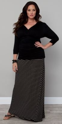 8ef27a57ef8 Striped Convertible Skirt · Black Maxi Skirt OutfitMaxi ...