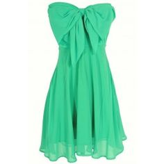 Oversized Bow Chiffon Dress in Jade Love! The line is great too, affordable too!